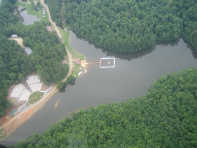 Ariel photo of Camp Raven Knob
