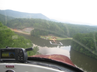 Flying in over Lake Sabotta
