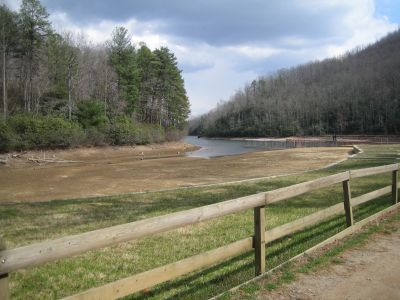 Dry Lake Bed at Camp Raven Knob