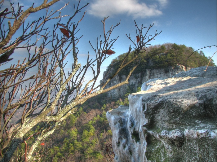 Ice at Pilot Mountain HDR