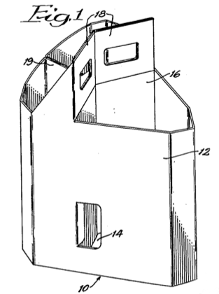 Three Bottle Carrier Patented in 1957
