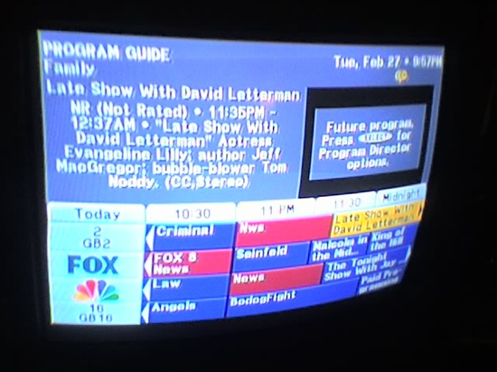 Truncated and abbreviated show titles in Direct TV's program guide