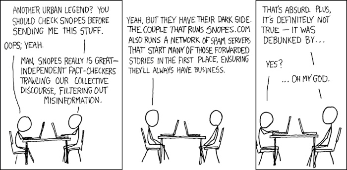 Dark side of Snopes - xkcd webcomic